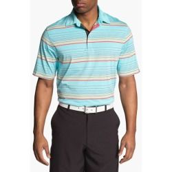 Cutter & Buck Barion Stripe DryTec Polo Moonstone XX-Large Information