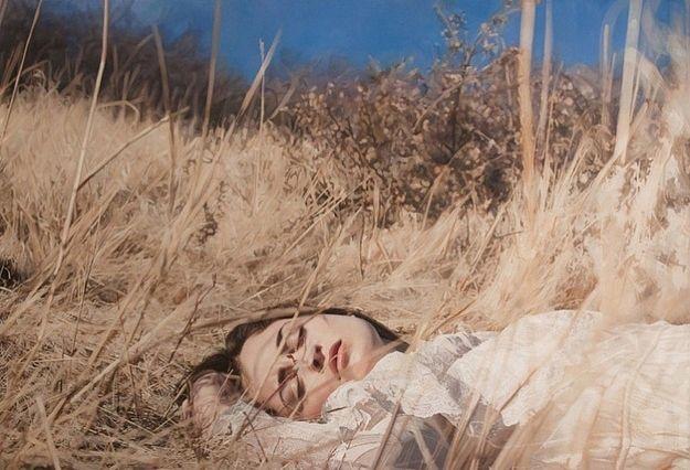 Yigal Ozeri's photo-realistic oil paintings.