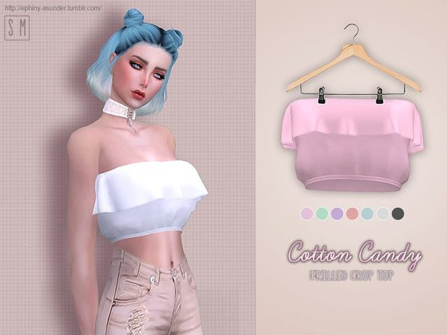 Sims 4 CC's - The Best: [ Cotton Candy ] - Frilly Top by Screaming Mustard...