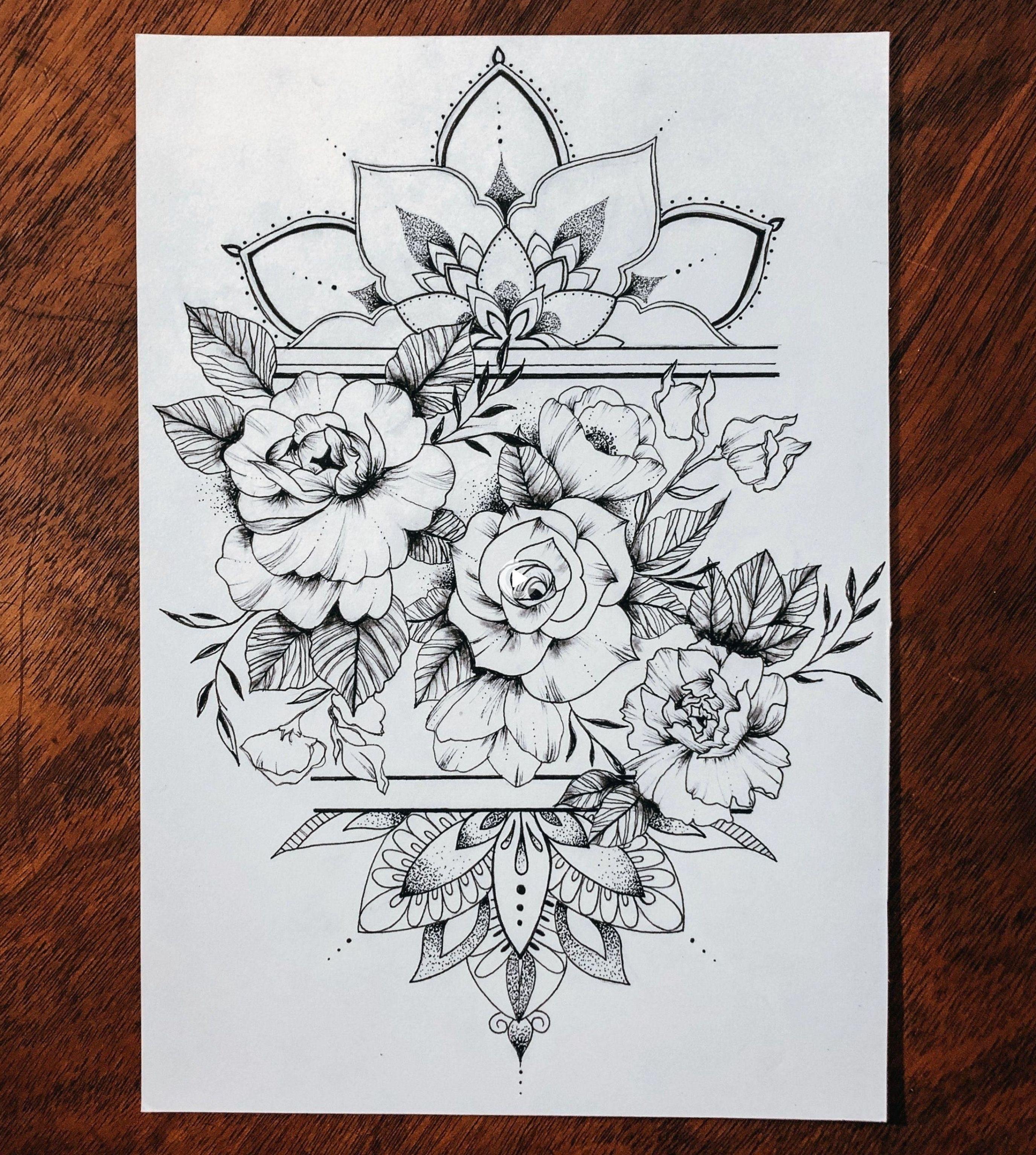 mandala tattoo sleeve design