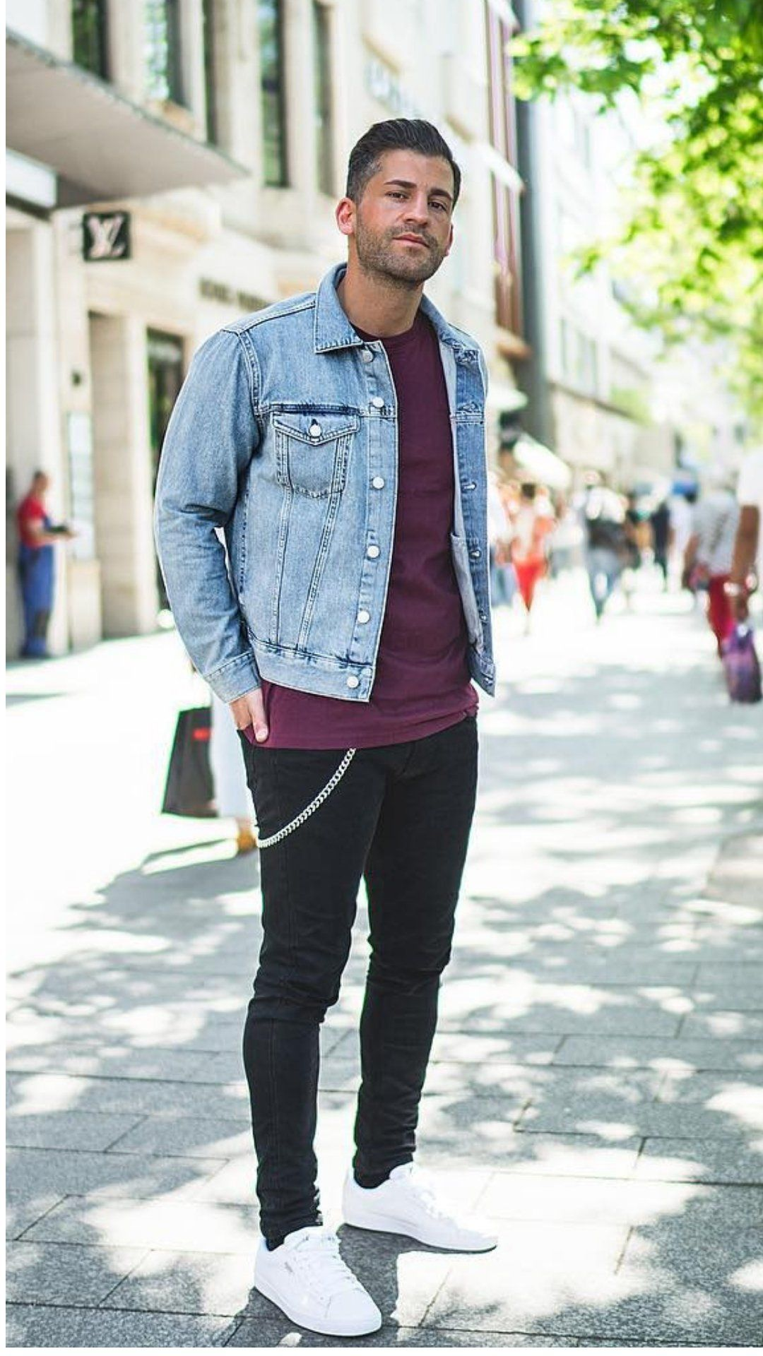 5 Epic Outfits We Bookmarked From This Celeb S Instagram Account Jean Jacket Outfits Men Denim Jacket Men Outfit Blue Jeans Outfit Men [ 1920 x 1080 Pixel ]