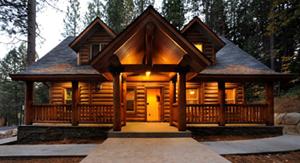 tiny houses on a creek | whisper creek log homes builds a log home ...