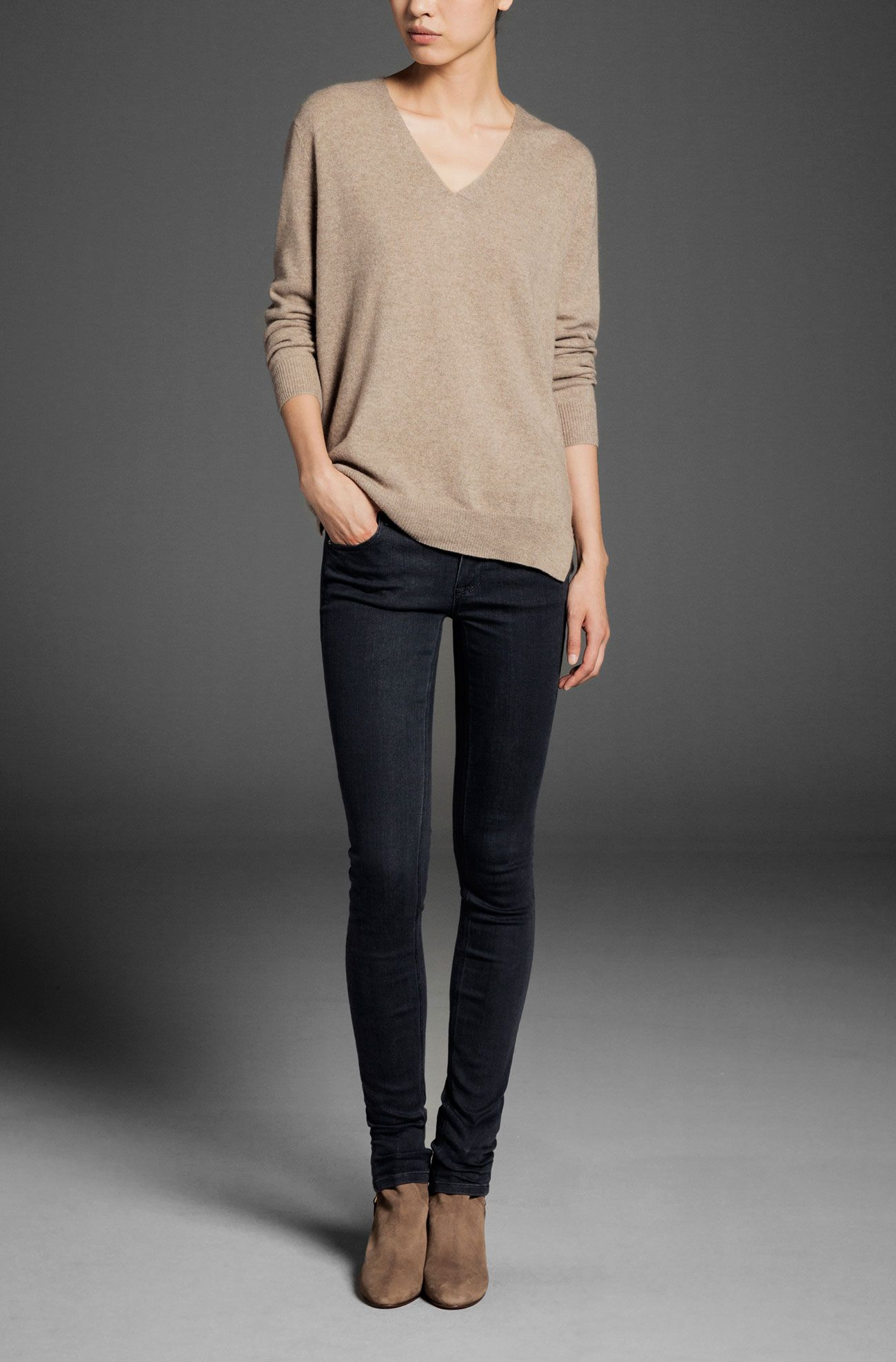 100% CASHMERE LONG SWEATER - Cashmere - WOMEN - Sweden | Outfits ...