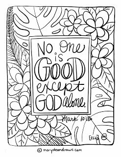 no one is good mark 1018 bible verse coloring page