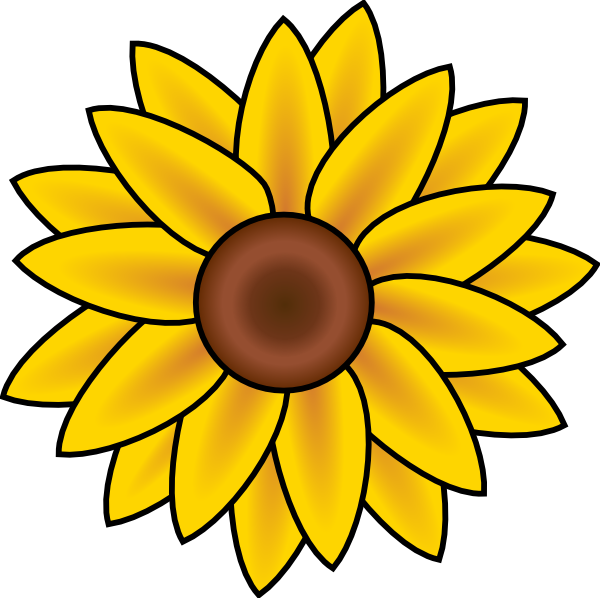free printable sunflower stencils sunflower clip art vector clip rh pinterest com sunflower clipart transparent sunflowers clip art free