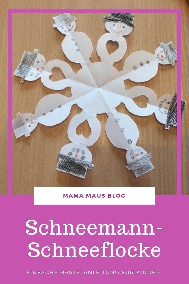 Wunderschöne Fensterdekoration - Schneemann-Schneeflocken - Mama Maus Blog