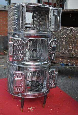 Meuble en tambours de lave linge recyclage tambour lave linge pinterest tambour - Meuble tambour machine a laver ...