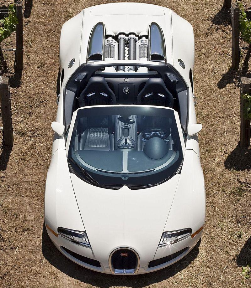 Convertible Creamy Cars Bugatti Veyron Luxury Vehicle