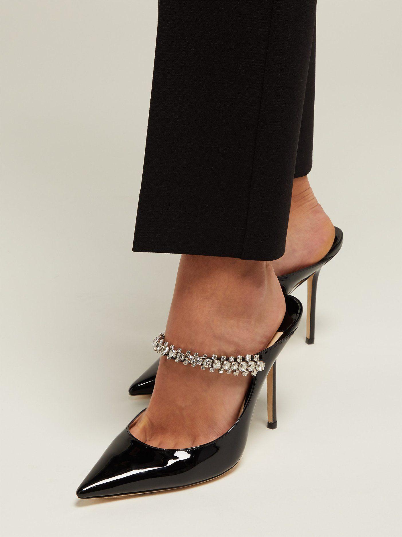 3836e182bdf Bing 100 crystal-embellished leather mules | Jimmy Choo |  MATCHESFASHION.COM US