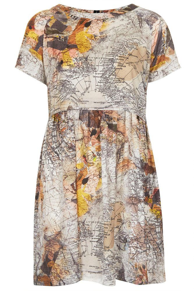 Map Print Tunic Dress 50 From Top