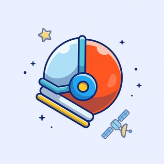 Astronaut Helmet Icon Astronaut Helmet Satellite And Stars Space Icon White Isolated Vector Icons Illustration Space Icons Royalty Free Images