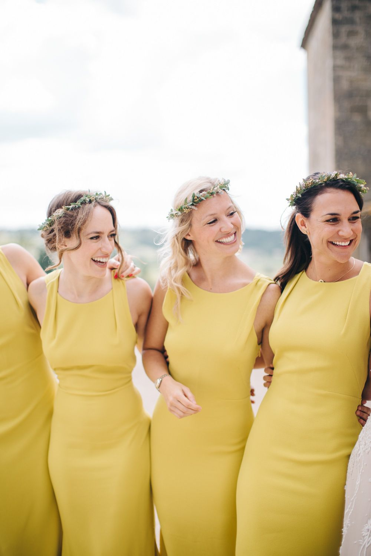 Yellow Beach Bridesmaid Dresses