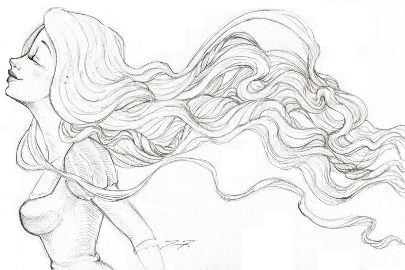 Rapunzel Sketch Hair Flowing By Love4me On Deviantart Rapunzel Sketch How To Draw Hair Drawings