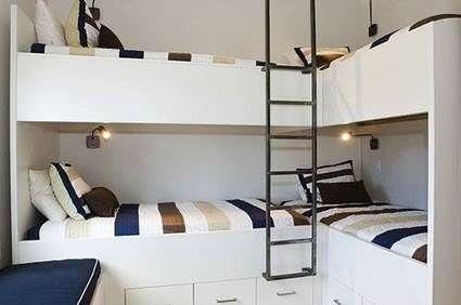 Tips para habitaciones infantiles compartidas cama for Literas para cuartos pequenos