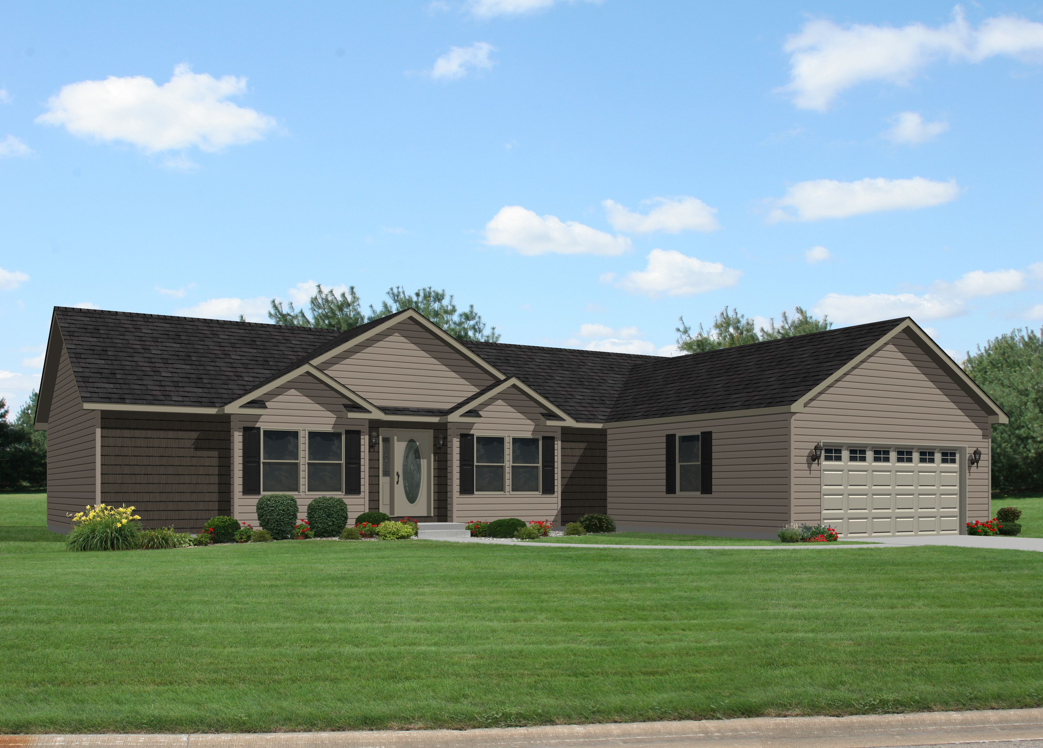 Oakdale iii rg749a commodore homes of indiana for House builders in indiana