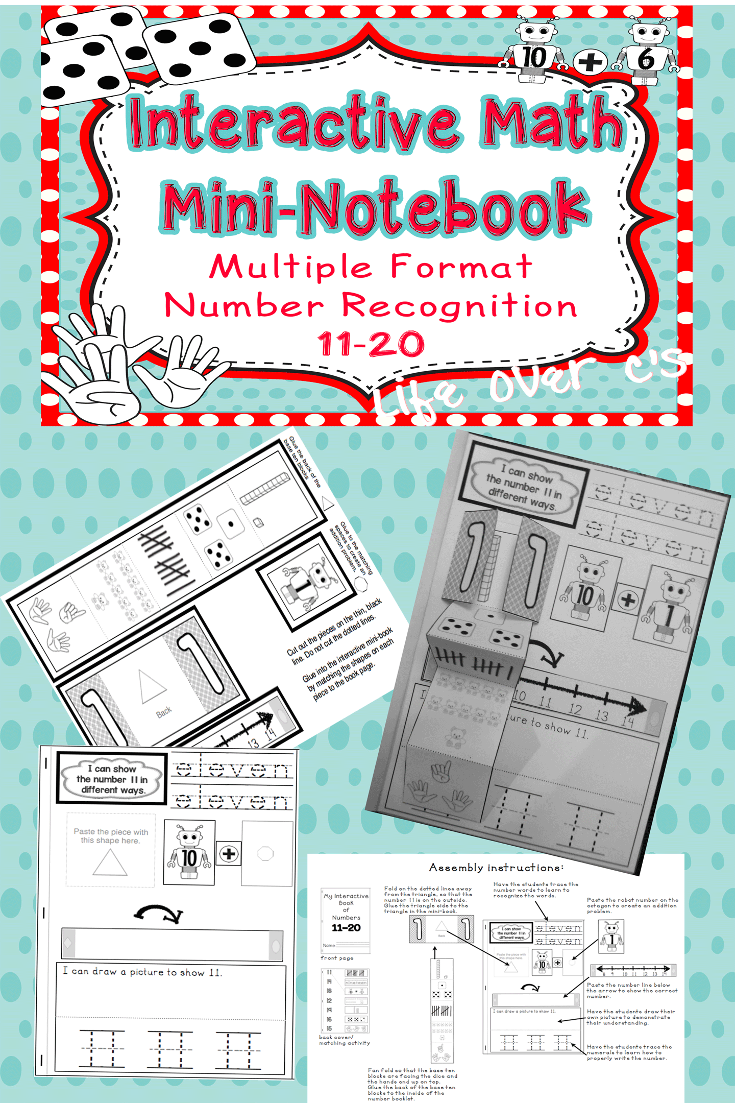 Interactive Math Notebook: Interactive Mini-Book for Numbers 11-20 ...
