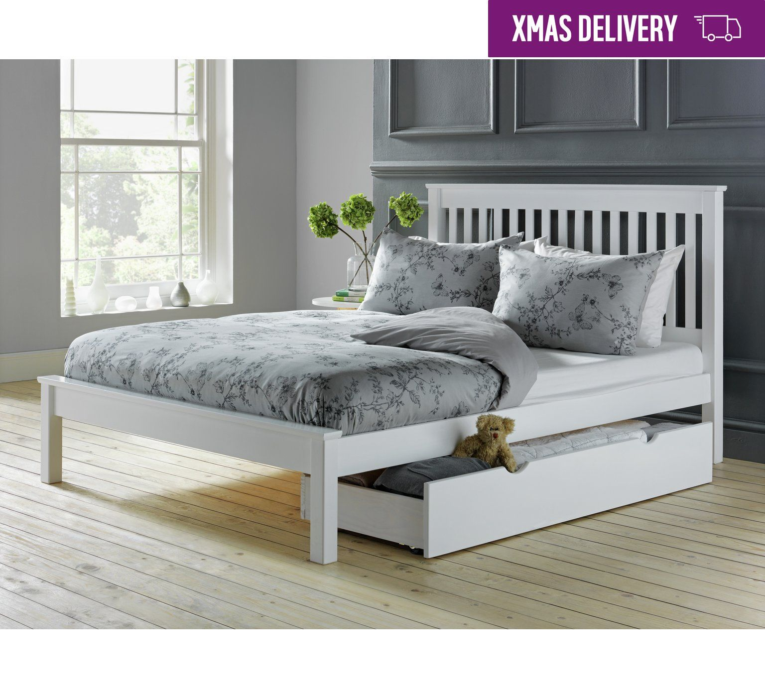 Buy collection aspley double bed frame white at argos visit