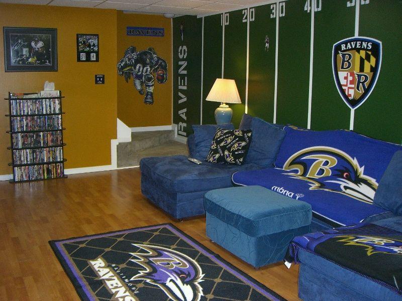 Baltimore Ravens Game Room Ideas