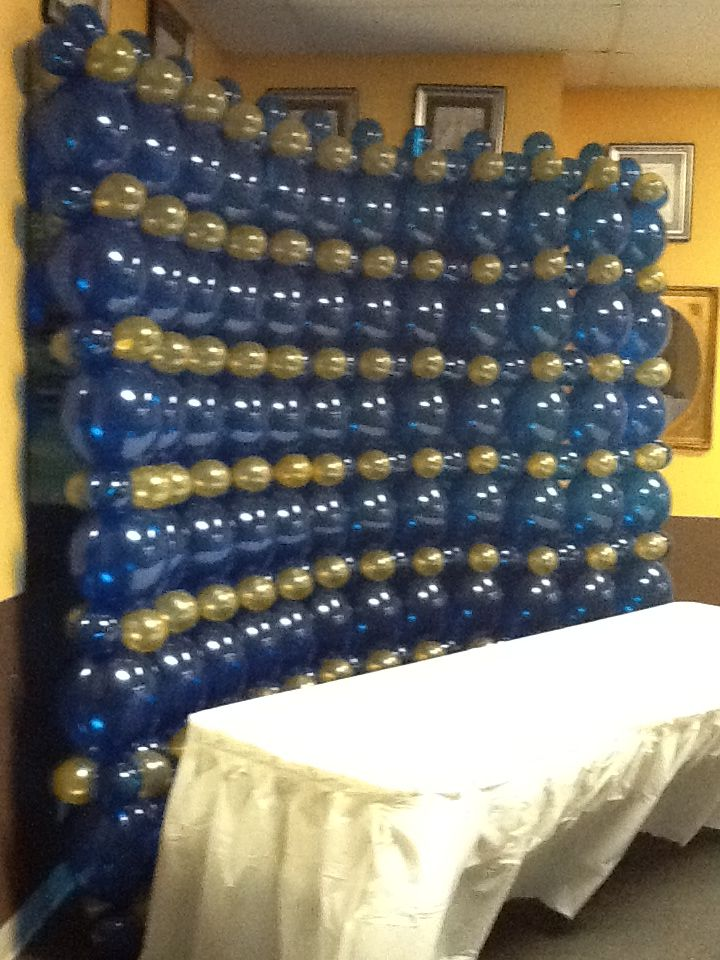 2012 Graduation Party  Wall of balloons back drop