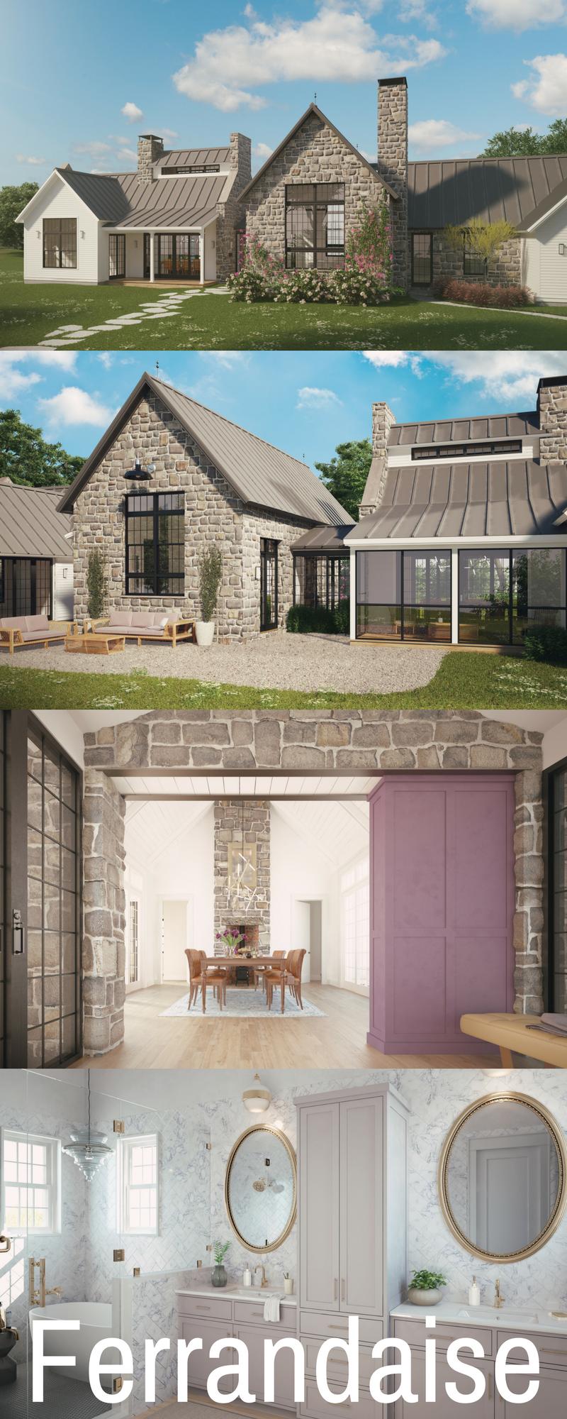 Featured Design The Ferrandaise Farmhouse Style House Farmhouse Plans European Farmhouse