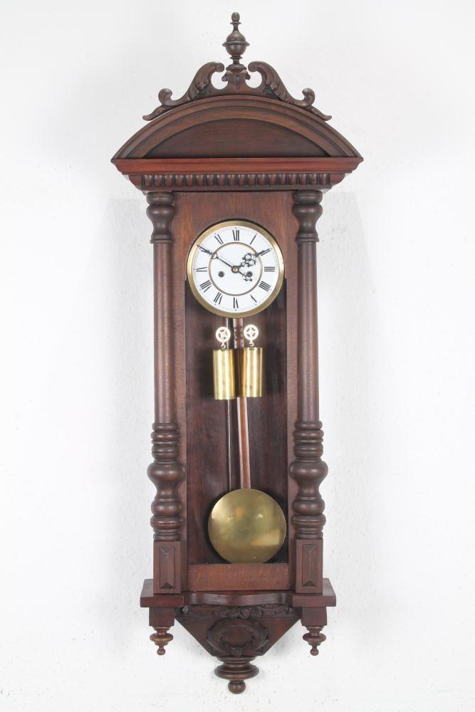 Riesiger Gustav Becker 2 Gewichter Vienna Wiener Regulator 130 Cm Wanduhr 1885 Classic Interior Antique Wall Clock Antiques