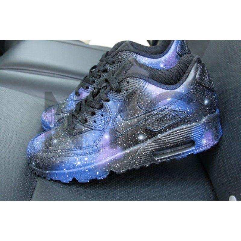 cheap for discount f37c5 604e2 Nike Air Max 90 Black Galaxy