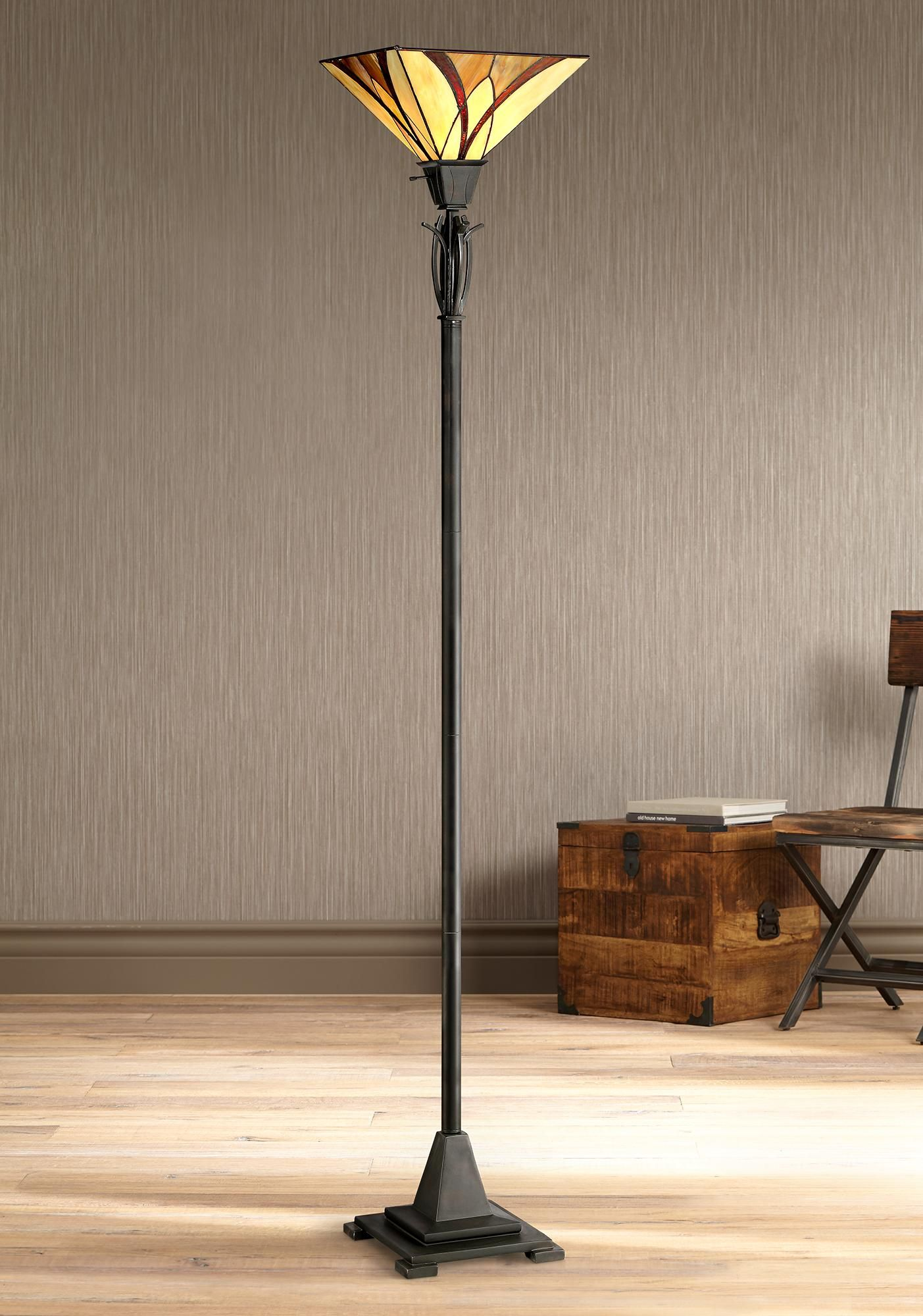 Floor Lamps Quoizel Asheville Valiant Bronze Torchiere Floor Lamp In 2020 Torchiere Floor Lamp Lamp Tiffany Floor Lamp