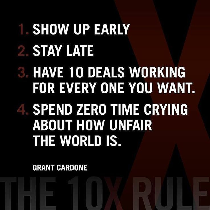 10x Rule Quotes: The 10X Rule! Who Subscribes?