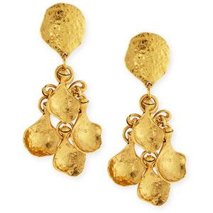 Jose & Maria Barrera 24K Gold-Plated Chain Drop Clip-On Earrings TbfV5RP