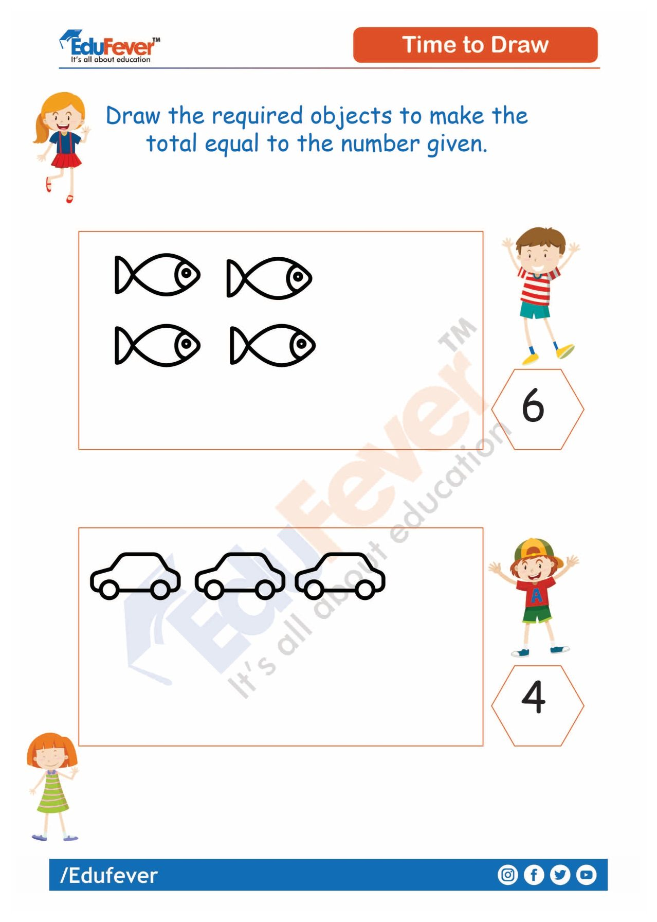 Draw The Objects Equal To The Number Mathematics Worksheets Worksheets Worksheets For Kids [ 1792 x 1278 Pixel ]