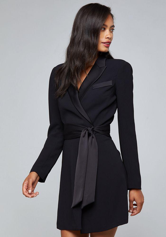e2f2e878a3 Bebe Women's Crepe Suit Dress, Size 16, Jet Black | Products ...