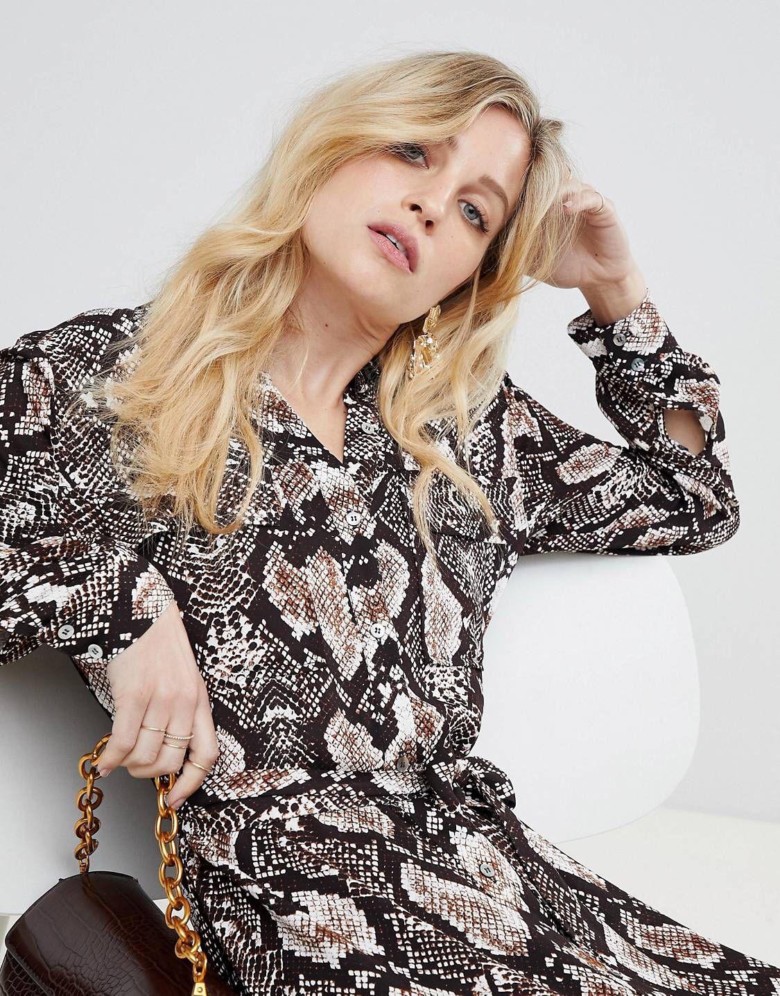 Whistles Elfrida snake print shirt dress  5cc8a7cf2fe