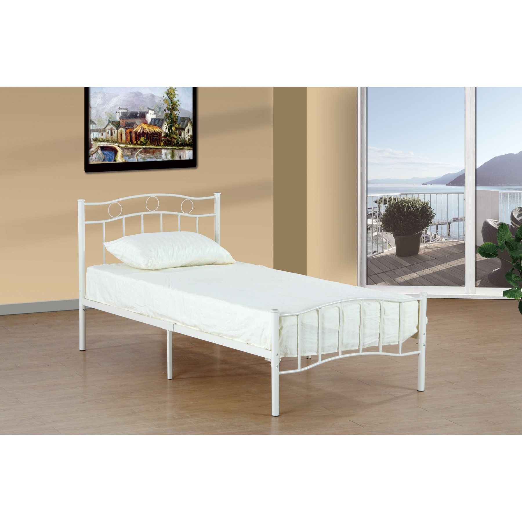 Donco Kids Spindle Twin Bed MPD1175SWH Bed, Kids bed