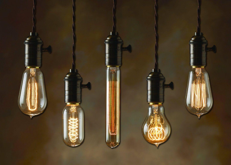 Hanging light bulbs
