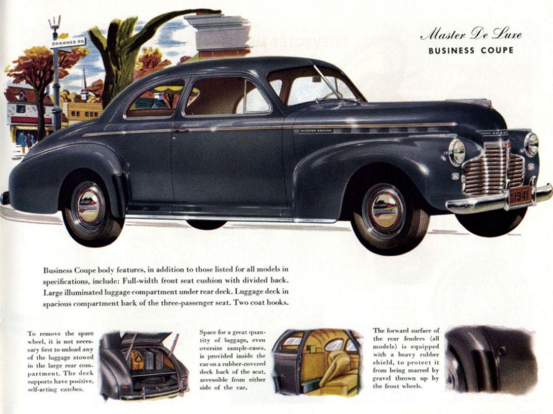 1941 Chevrolet Master De Luxe Business Coupe 1940 Mercury Eight