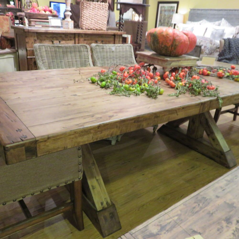 Aspen Birch Wood Rustic Table Extension Dining In Natural Earth