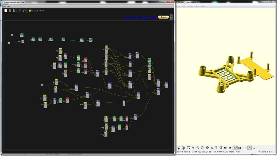 OpenSCAD - Graphscad : A New Nodal editor for Openscad | 3D Models