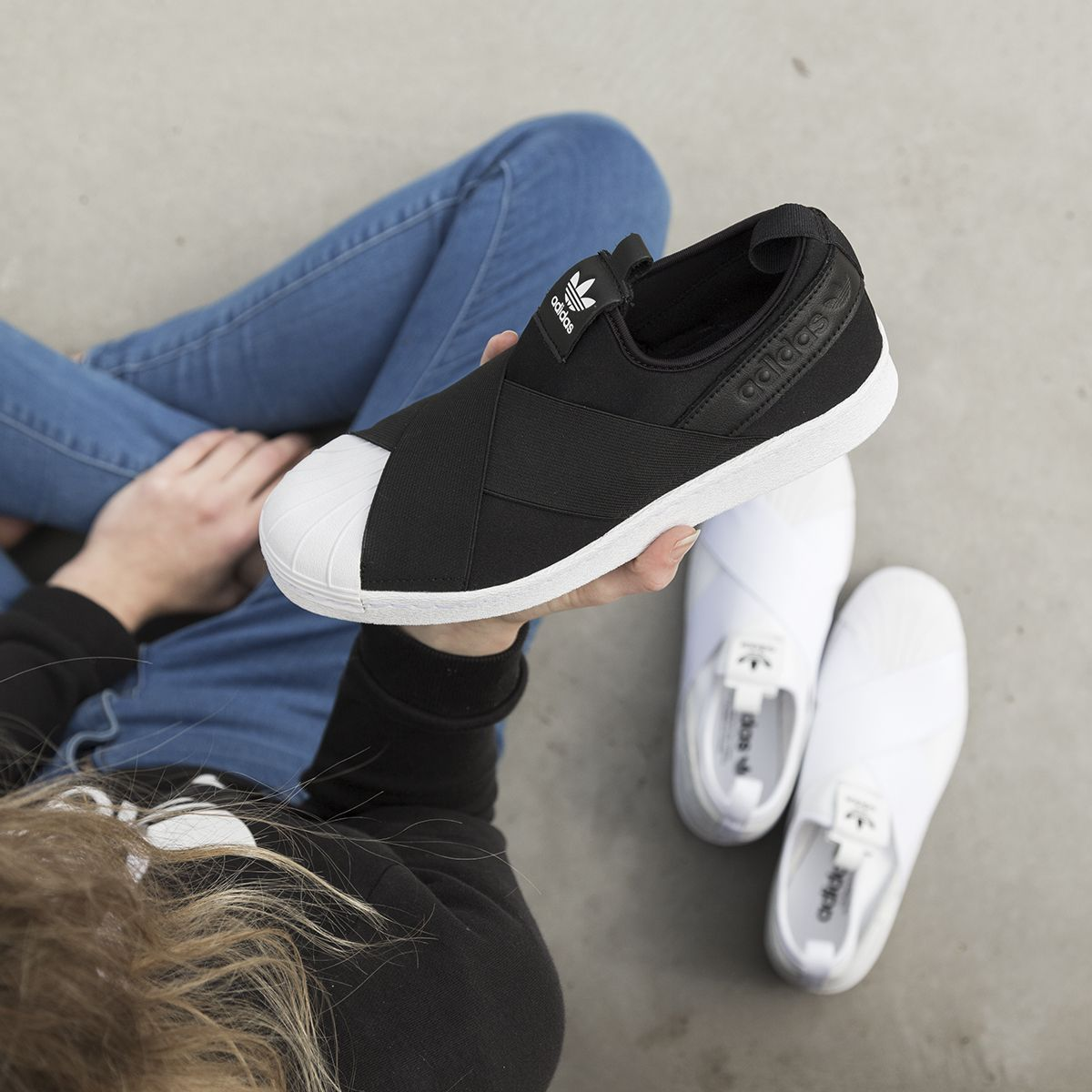 Slip-on sneaker style - adidas 'Superstar Slip On'. Shop: https