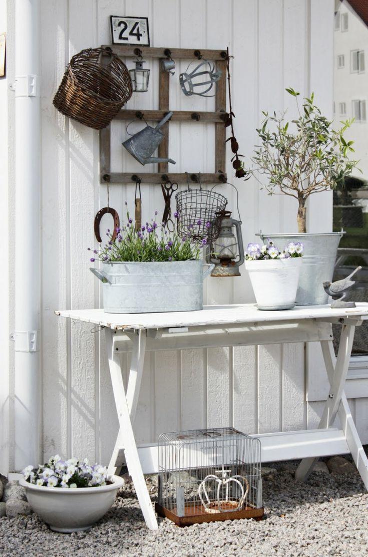Vorgartengestaltung im Vintage Stil: 26 schicke Gartendeko Ideen