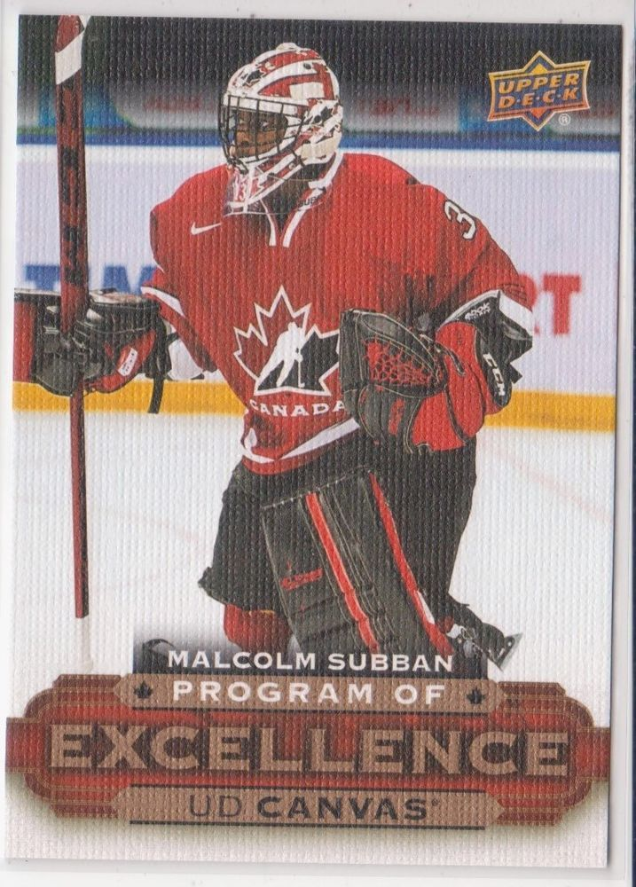 15 16 Upper Deck Ser 2 C 258 Malcolm Subban Program Of Excellence
