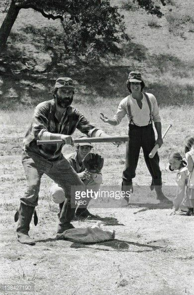 Little House On The Prarie Baseball Episode Victor French Black And White Pictures Michael Landon