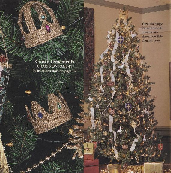 Crown Christmas Tree Topper Plastic Canvas Pattern Matching