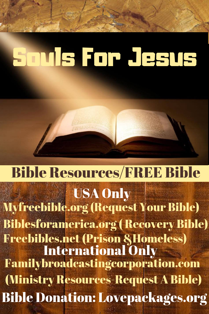Do you know someone who needs a bible? Send them one of