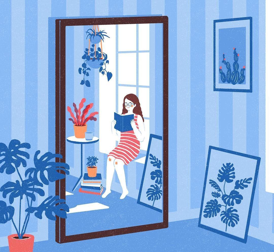 Junghyeon Kwon Instagram Book Reading Mirror