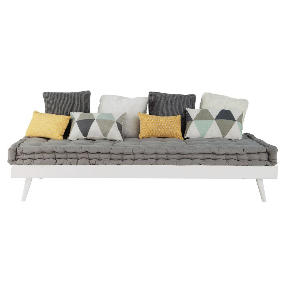 Lit banquette 90x190 en pin blanc en 2019 | Home Sweet Home | Daybed ...
