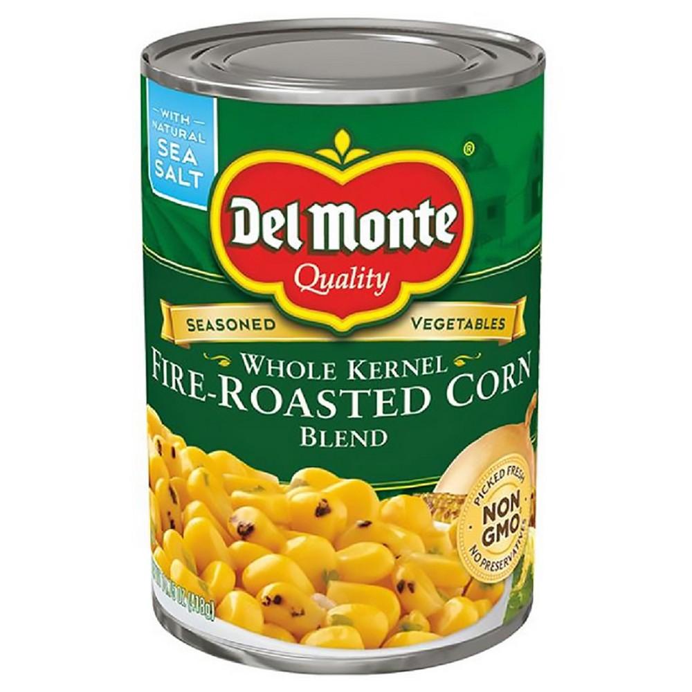 Del Monte Whole Kernel Fire-Roasted Corn Blend 14.5 Oz In