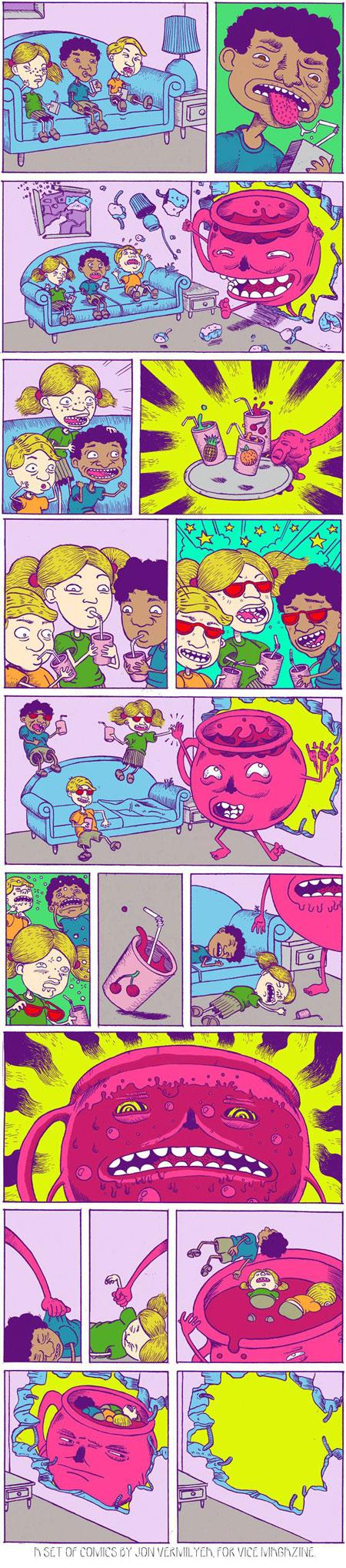 Oh Yeah Oh No Funny Comics Crazy Kids Kool Aid