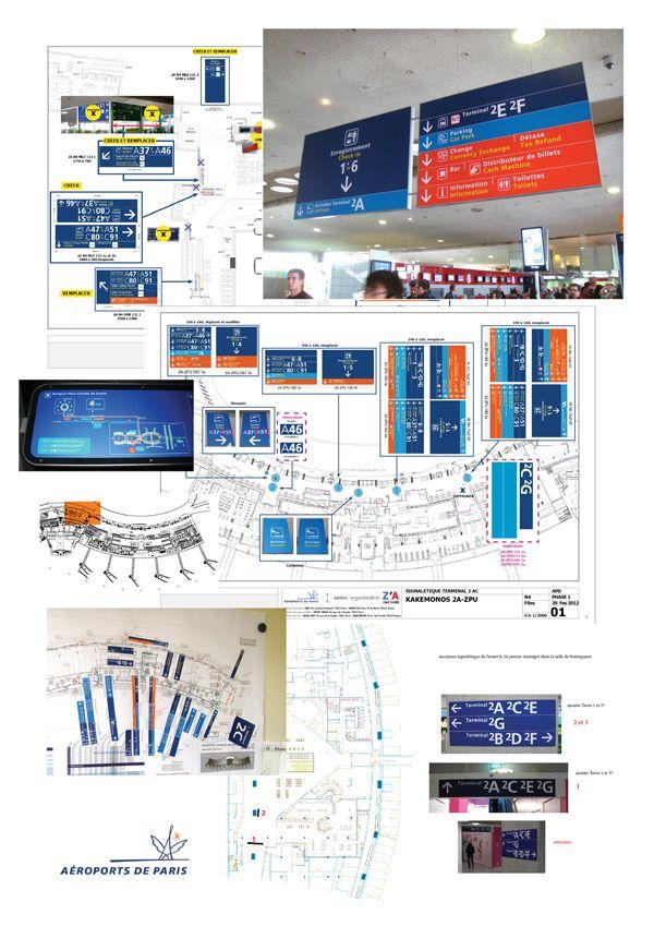 Signage Project: Aéroport de Paris on Behance