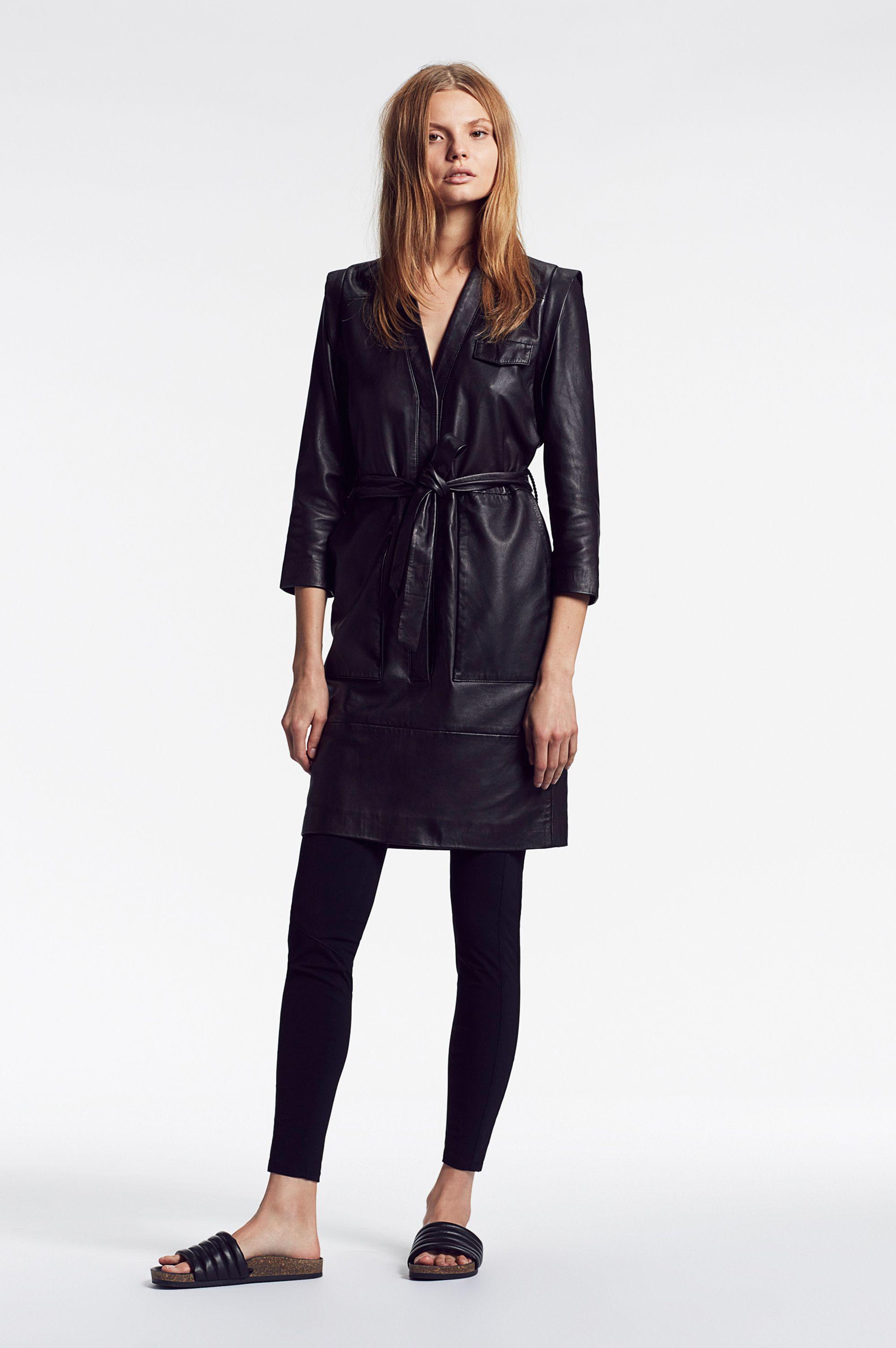 set leather dress set fashion com lederkleid  leather dresses