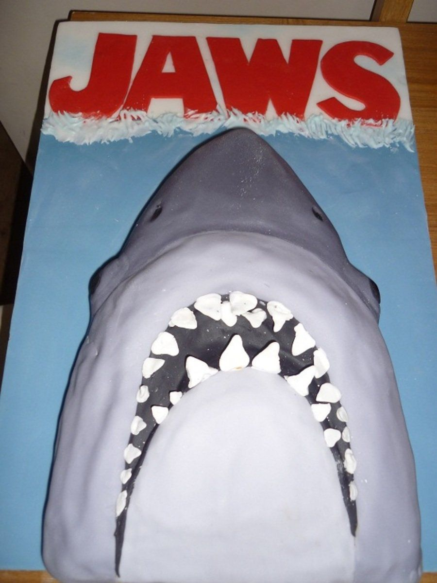 great white shark cake completed scalloped hammerheads reef